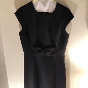 Kate Spade Black Stretch Crepe Bow Formal Dress